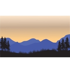Silhouette of blue mountain vector