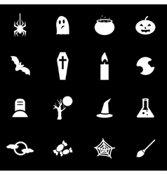 white halloween icon set vector image vector image