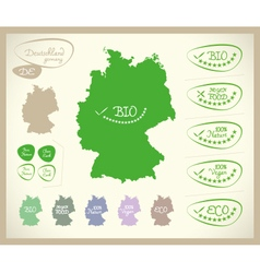 Bio map de deutschland germany vector