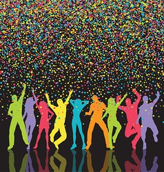 colourful party people background 0709 vector image