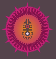 Indian ornamental sun poster vector