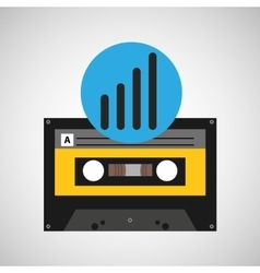 Sound wave music cassette tape vector
