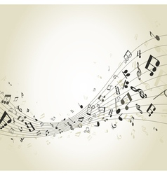 Abstract music4 vector