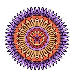 Doodle colorful flower vector