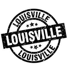 Louisville black round grunge stamp vector