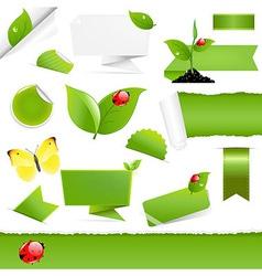 Big Eco Design Elements vector image
