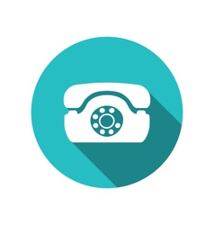 Web icon of retro telephone trendy flat minimal vector