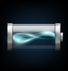 Battery with plasma isolated on a black background vector