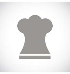 Chef hat black icon vector