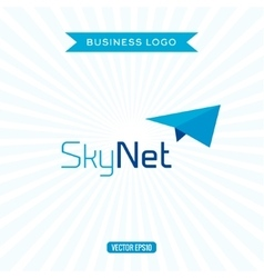 Business logo flat airplane vector