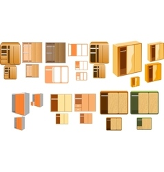 Many closets vector