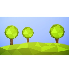Low poly landscape vector