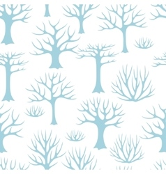Winter seamless pattern with abstract stylized vector image