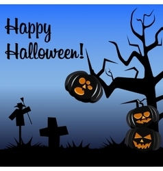 Halloween postcard dark colors vector
