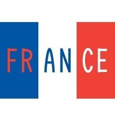 French flag and word france vector