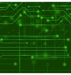 Modern computer technology green background vector