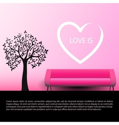 Lady and gentleman fall in love together vector image