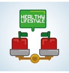 Healthy food design healthy lifestyle icon flat vector