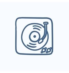 Turntable sketch icon vector