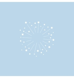 Star explosion minimal style design for vector