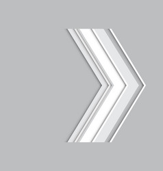 abstract gray arrow design modern futuristic vector image