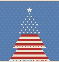 American christmas tree poster background vector