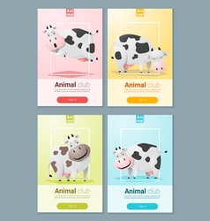 Animal banner with cows for web design 2 vector