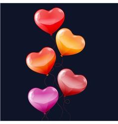 balloons hearts vector image