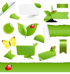 Big eco design elements vector