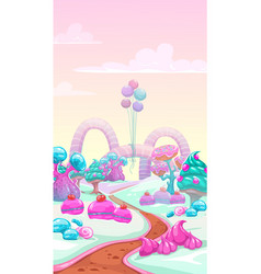 cartoon sweet landscape vector image vector image