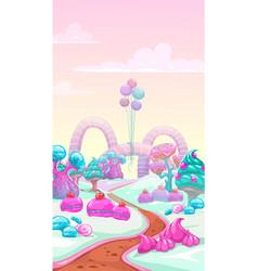Cartoon sweet landscape vector
