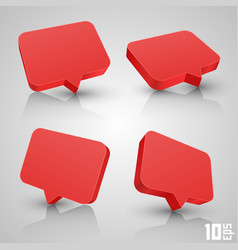 chat set vector image vector image