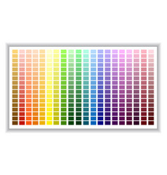 color palette color shade chart vector image