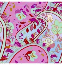 Decorative floral boho seamless pattern vector