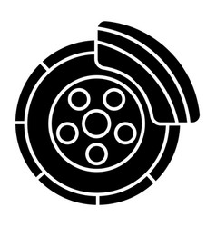 Disc brake - car service icon vector