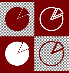 Finance graph sign bordo and white icons vector