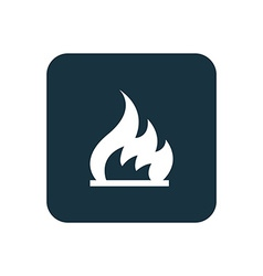 Fire icon rounded squares button vector
