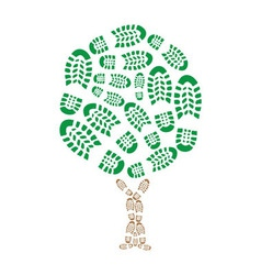 Footprint Eco vector image vector image