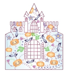 Halloween castle gradient vector