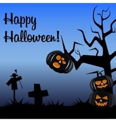 Halloween postcard dark colors vector image