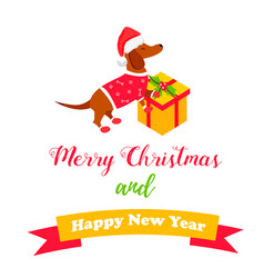 holiday dog perfect for the year of dog 2018 vector image