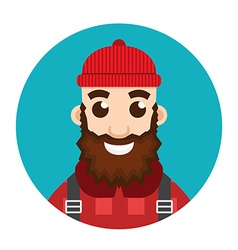 Lumberjack or woodcutter logo vector