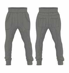 Mens black sweatpants vector
