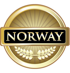 Norway gold label vector