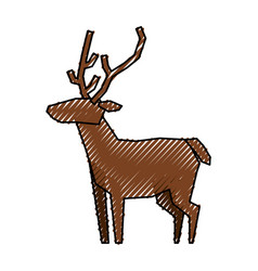 reindeer christmas animal vector image