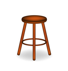 retro stool in brown design vector image vector image