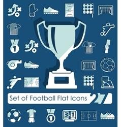 Set of football flat icons vector