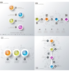 Set with infographics Data and information vector image