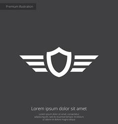 shield wings premium icon vector image