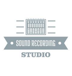 Sound record logo simple gray style vector
